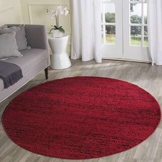 Safavieh Adirondack Modern Red/ Black Rug (4' Round)