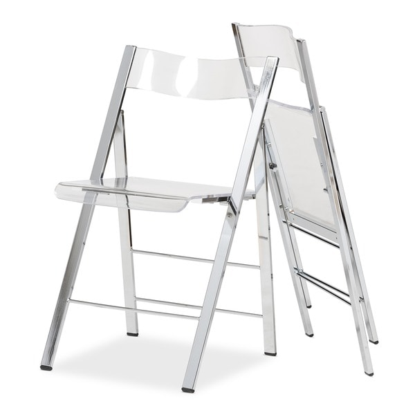 Perfect Acrylic Folding Chairs Set Of 2 Free Shipping Today