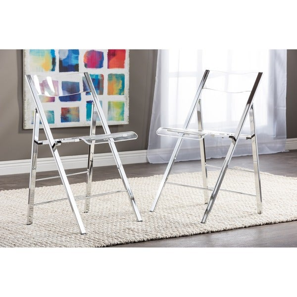 Acrylic Folding Chairs Set of 2 Free Shipping Today Overstock 101