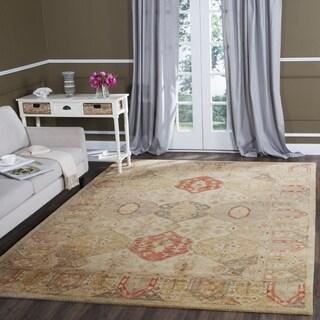 Safavieh Handmade Antiquity Beige/ Multi Wool Rug (6' Square)