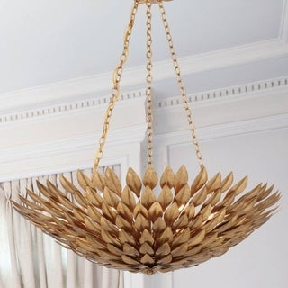 Crystorama Broche Collection 6-light Antique Gold Chandelier
