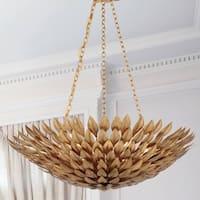 6-light Antique Gold Chandelier