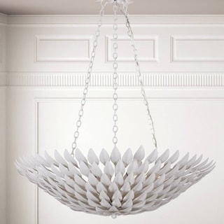 Crystorama Broche Collection 6-light Matte White Chandelier