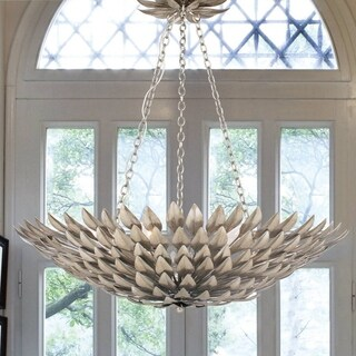 Crystorama Broche Collection 6-light Antique Silver Chandelier
