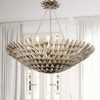 Crystorama Broche Collection 8-light Antique Silver Chandelier
