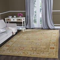 Safavieh Handmade Antiquity Taupe/ Beige Wool Rug - 6' Square