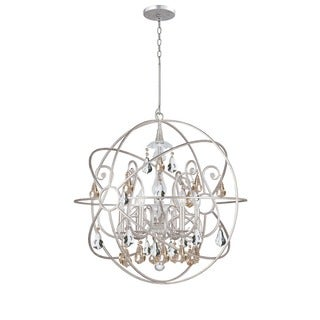 Crystorama Solaris Collection 6-light Olde Silver Chandelier
