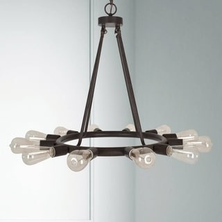 Crystorama Dakota Collection 12-light Charcoal Bronze Chandelier
