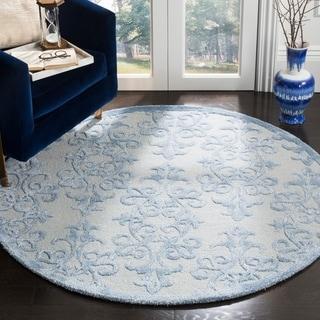 Safavieh Handmade Bella Blue Wool Rug (5' Round)