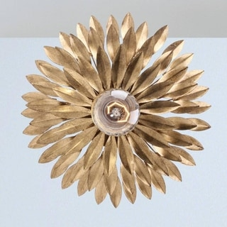 Crystorama Broche Collection 1-light Antique Gold Wall Sconce