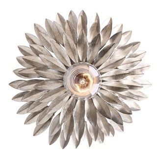 Crystorama Broche Collection 1-light Antique Silver Wall Sconce