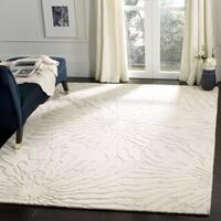 Safavieh Handmade Bella Silver/ Ivory Wool Rug - 5' Square