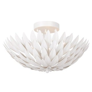 Crystorama Broche Collection 4-light Matte White Flush Mount