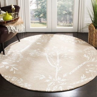 Safavieh Handmade Bella Sand/ Ivory Wool Rug (5' Round)