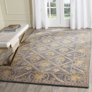 Safavieh Handmade Bella Blue/ Gold Wool Rug (5' Square)