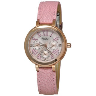 Casio Women's SHE3034GL-4A Sheen Pink Watch