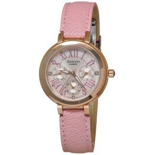 Casio Women's SHE3034GL-4A Sheen Pink Watch (Option: Pink) https://ak1.ostkcdn.com/images/products/11722960/P18642848.jpg?impolicy=medium