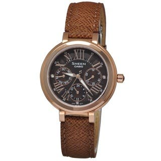 Casio Women's SHE3034GL-5A Sheen Brown Watch (Option: Brown) https://ak1.ostkcdn.com/images/products/11722961/P18642849.jpg?impolicy=medium