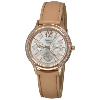 Casio Women's SHE3030GL-9A Sheen Silver Watch