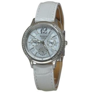 Casio Women's SHE3030L-2A Sheen Silver Watch