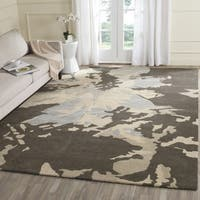 Safavieh Handmade Bella Modern Abstract Winter Taupe Wool Rug - 6' x 6' Square