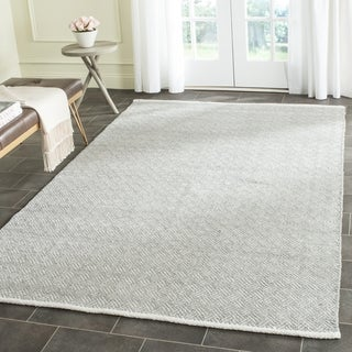 Safavieh Handmade Boston Grey Cotton Rug (8' Square)