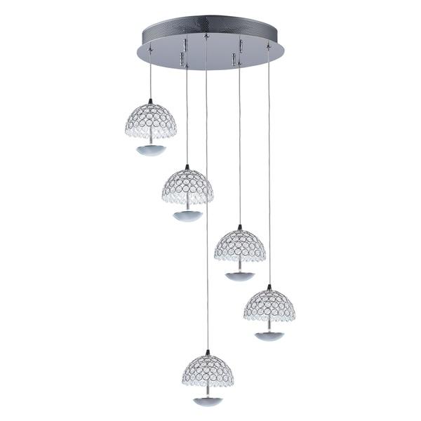 Parasol-Multi-Light Pendant - Chrome