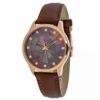 Kenneth Cole Women's 10018810 Classic Brown MOP Watch