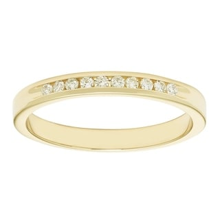 Boston Bay 14k Yellow Gold 1/10ct TDW Diamond Anniversary Band (H-I, I1-I2)