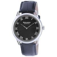 Rudiger Mens Ulm Leather Calfskin Black Watch