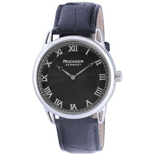 Rudiger Mens Ulm Leather Calfskin Black Watch
