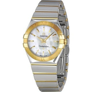 Omega Women's 12320276005004 Constellation White mother of pearl Watch