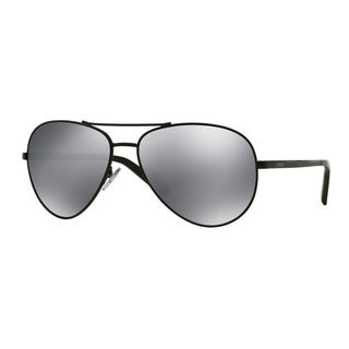 DKNY Men's DY5083 10046G Black Metal Pilot Sunglasses