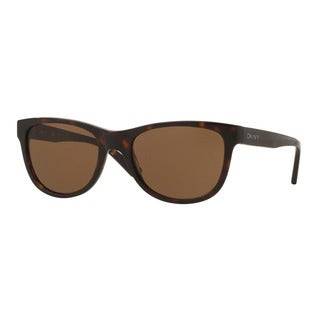 DKNY Men's DY4139 369873 Havana Plastic Square Sunglasses