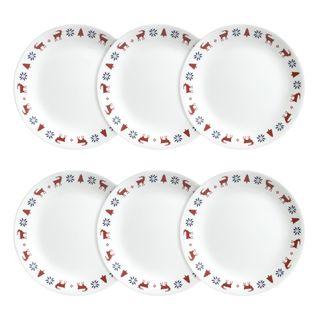 Corelle Livingware Crystal Frost Plates (Set of 6)  sc 1 st  Overstock.com & Corelle Dinnerware For Less | Overstock