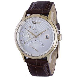 Rudiger Mens Aachen Leather Calfskin Brown Watch