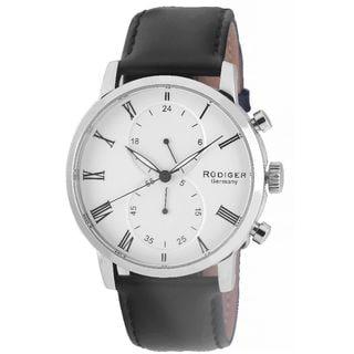 Rudiger Mens Bavaria Leather Calfskin Black Watch