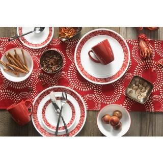 Corelle Livingware Bandhani 16-piece Chip-Resistant Dinnerware Set