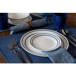 Corelle Livingware Classic Cafe Blue 16-Piece Dinnerware Set