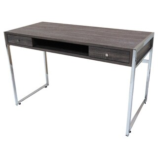 Dark Driftwood Chrome Desk