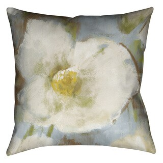 Laural Home Soft White Blooms Decorative 18-inch Pillow