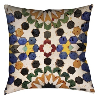 Laural Home Bright Tiles Decorative 18-inch Pillow
