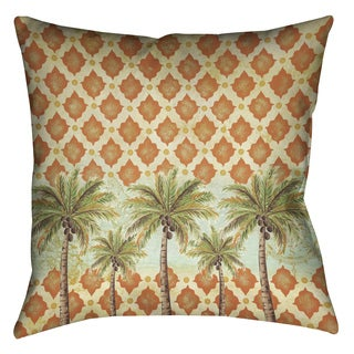 Laural Home Vintage Palm Decorative 18-inch Pillow