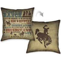 Laural Home Rodeo Words Decorative 18-inch Pillow