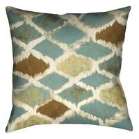 Laural Home Teal Pattern Decorative 18-inch Pillow