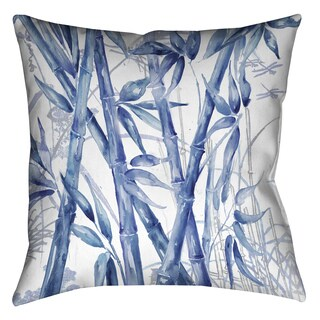 Laural Home Blue Bamboo Decorative 18-inch Pillow