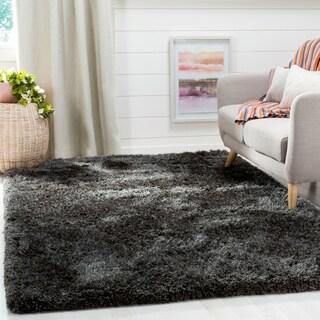 Safavieh Supreme Shag Dark Grey Polyester Rug (4' x 6')
