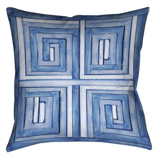 Laural Home Blue Geometrics Decorative 18-inch Pillow