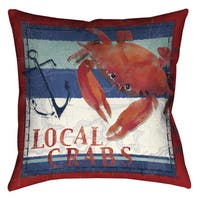Laural Home Local Crabs Decorative 18-inch Pillow