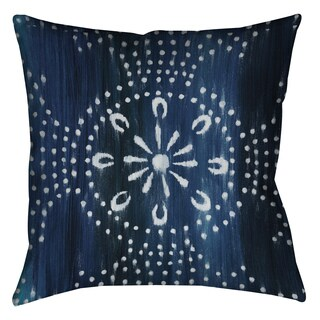 Laural Home Blue Moon Pattern Decorative 18-inch Pillow